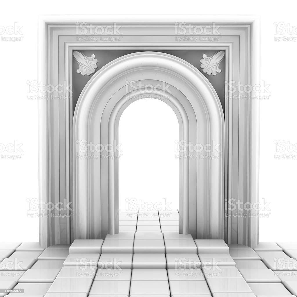 white portal stock photo