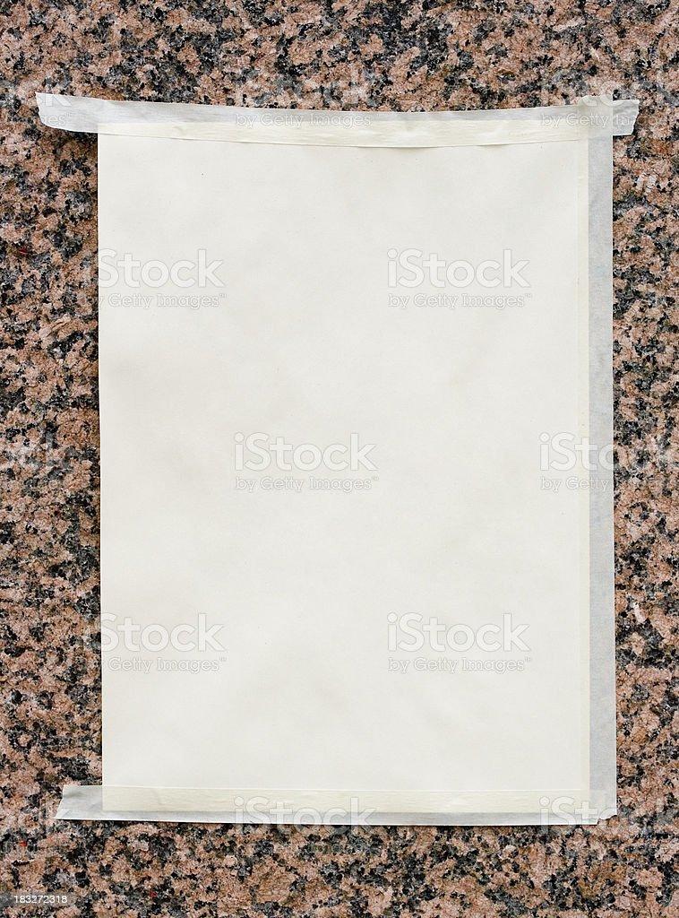 White poster royalty-free stock photo