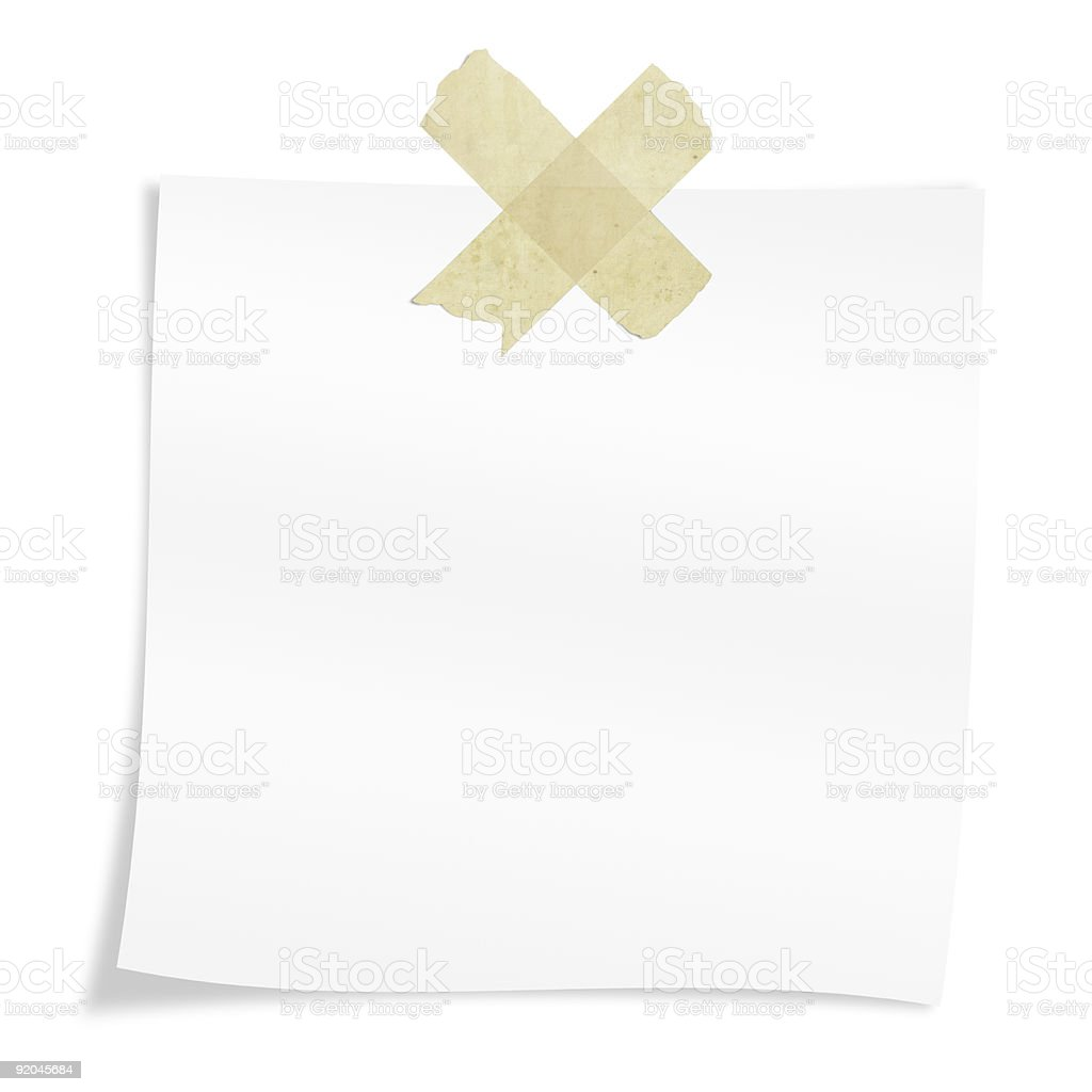 white postit isolated royalty-free stock photo