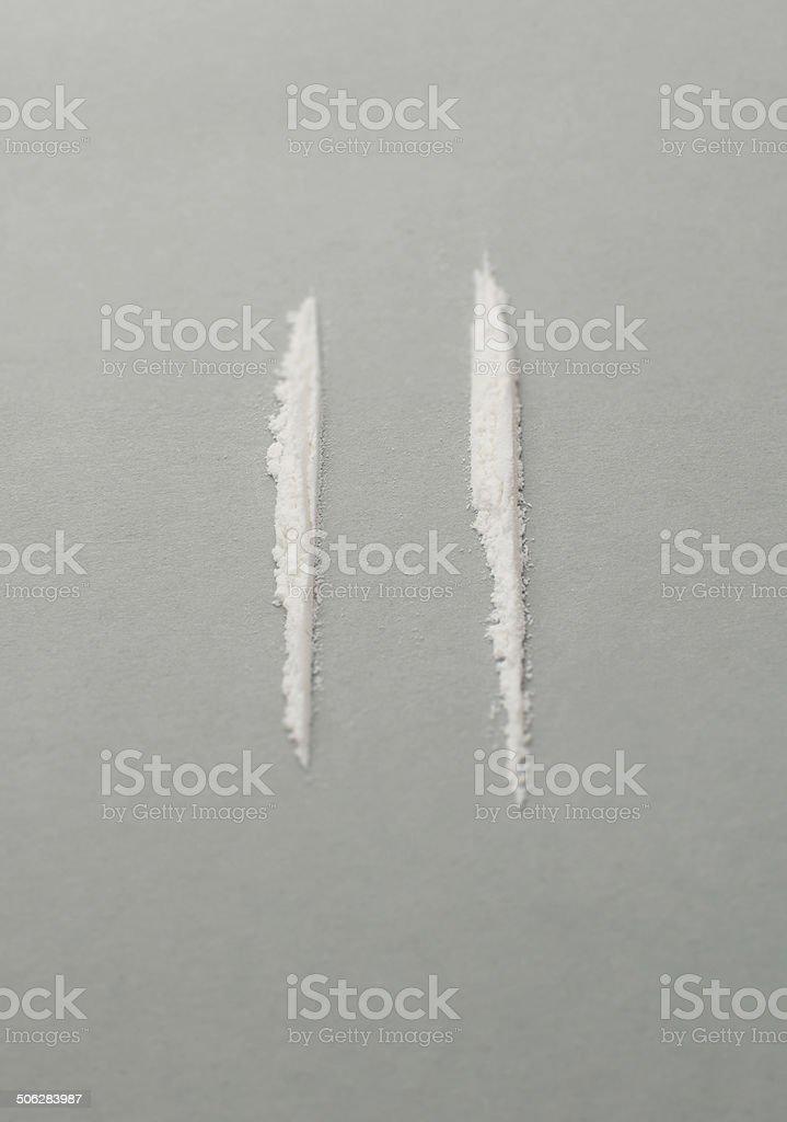 White powder - selective focus stock photo