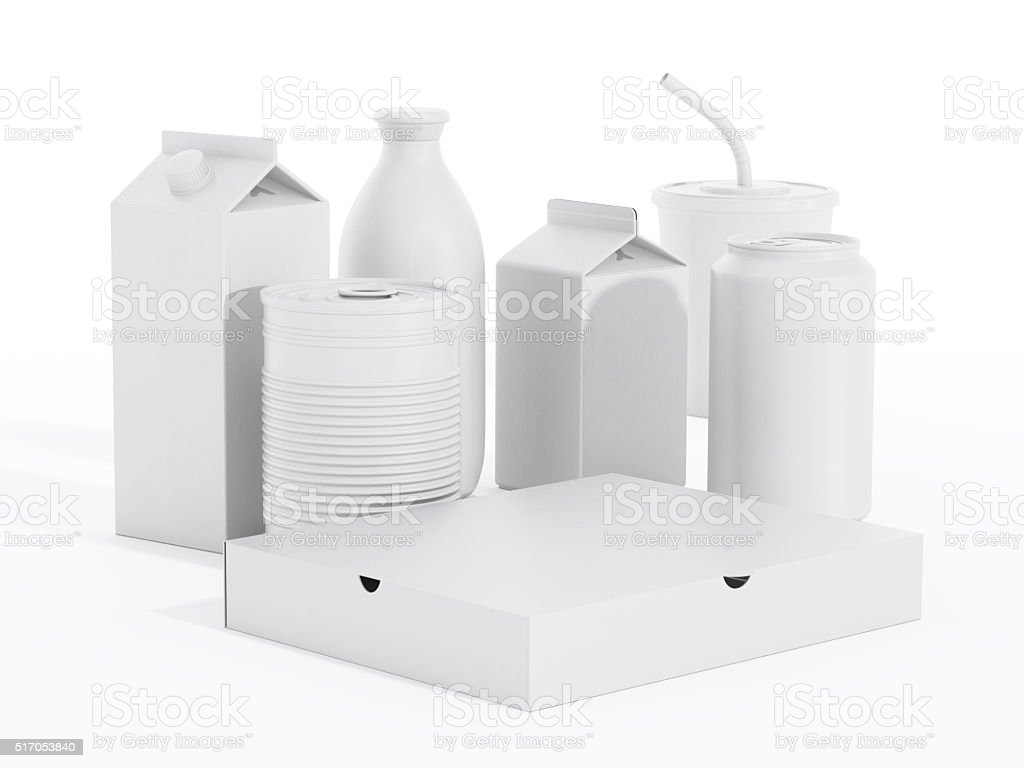 White product packages stock photo
