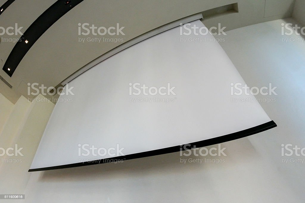 White projection screen royalty-free stock photo