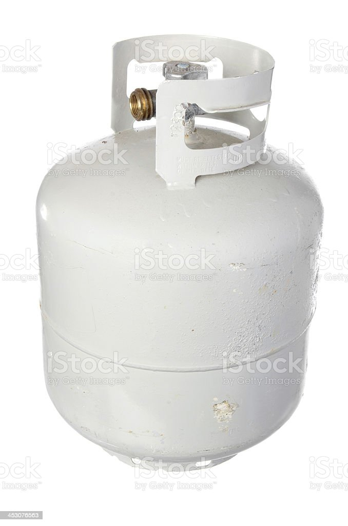 White Propane Tank stock photo