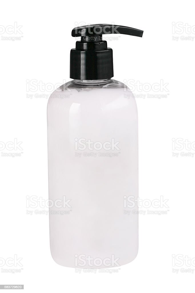 White pump bottle stock photo