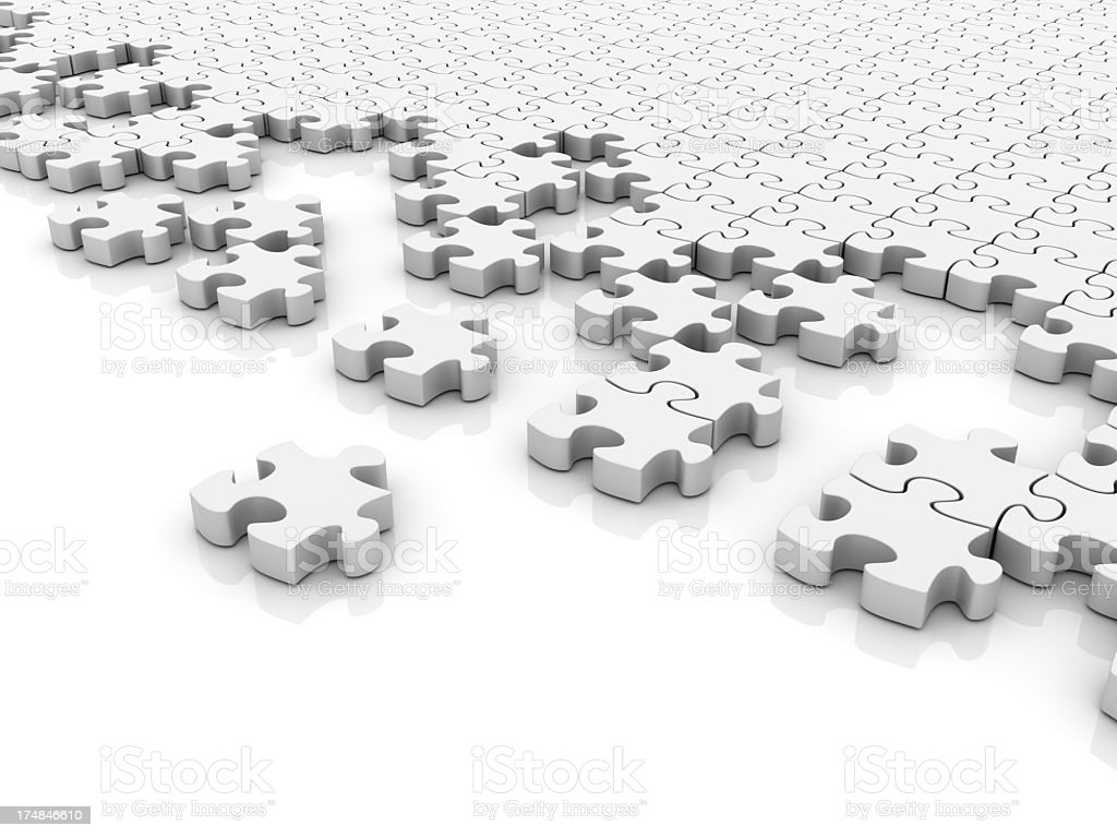 White Puzzle royalty-free stock photo