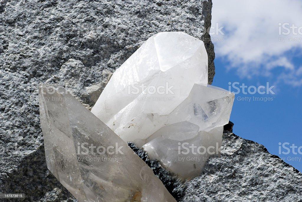 White quartz crystal stock photo