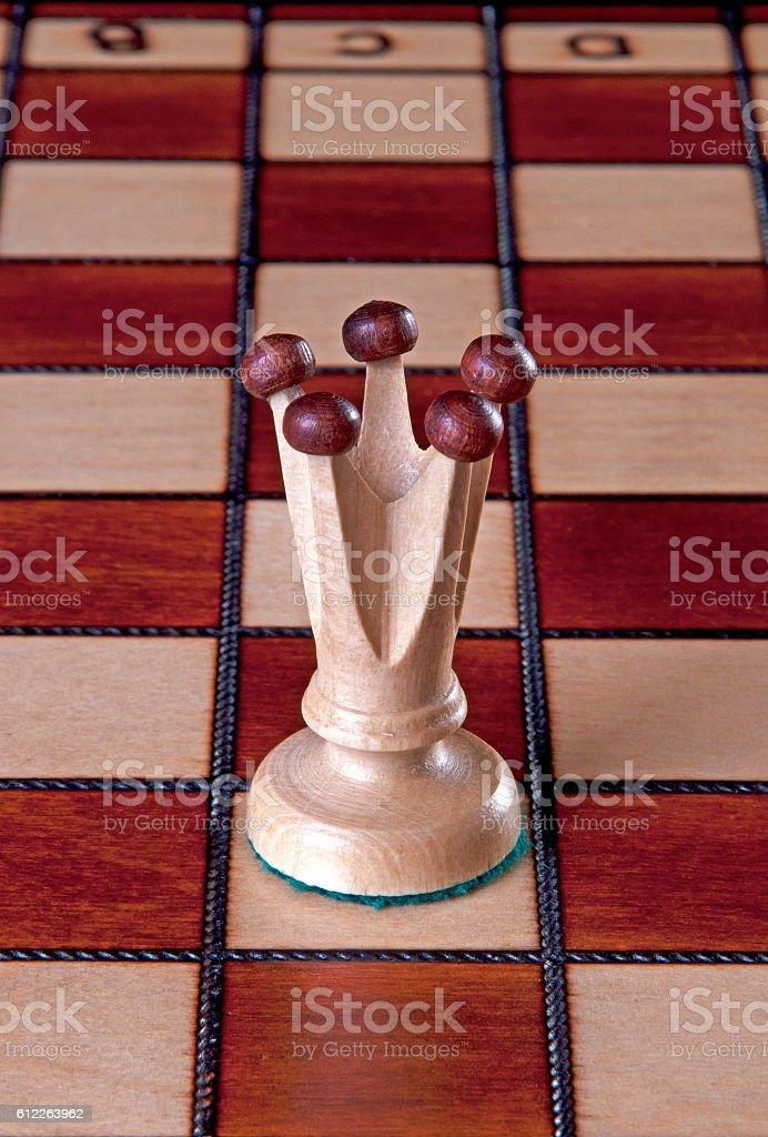 White Queen chess piece stock photo