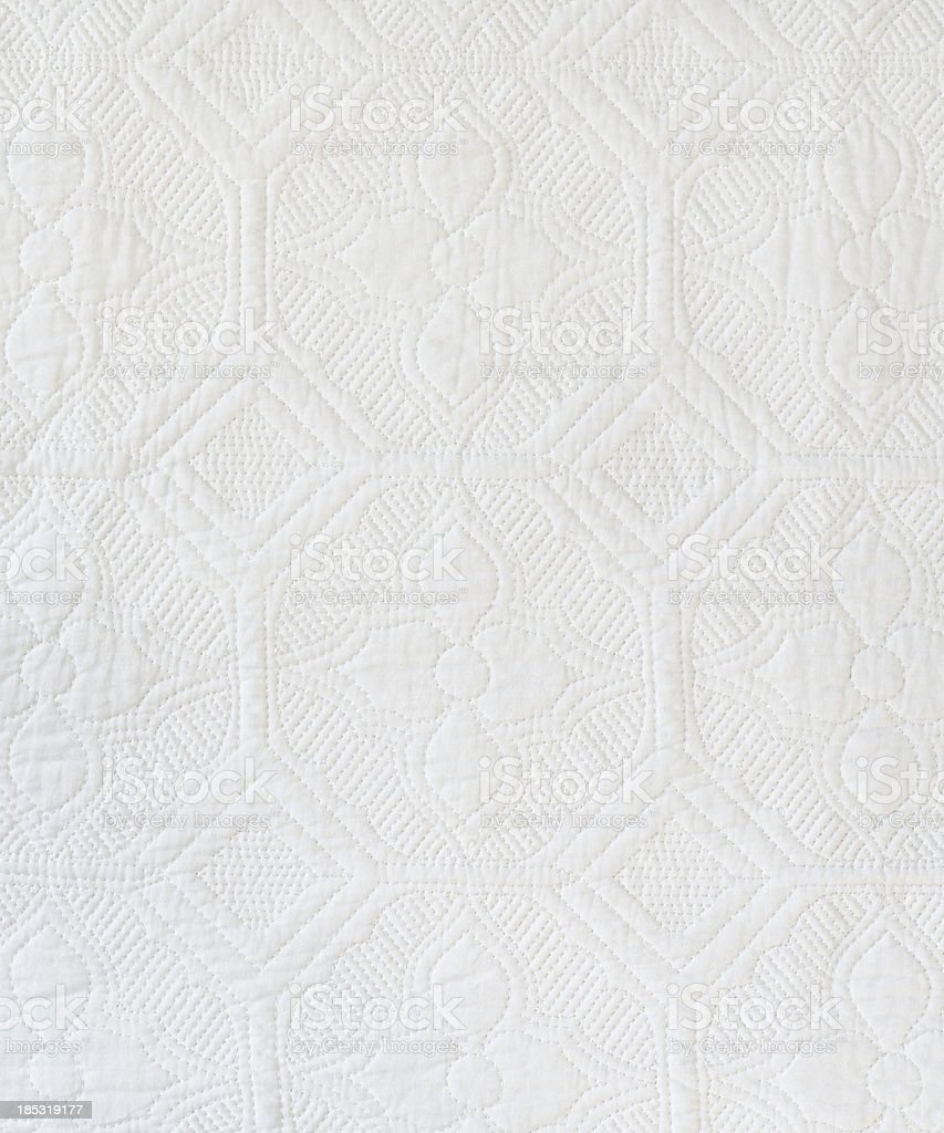 White Quilt Background/Texture stock photo
