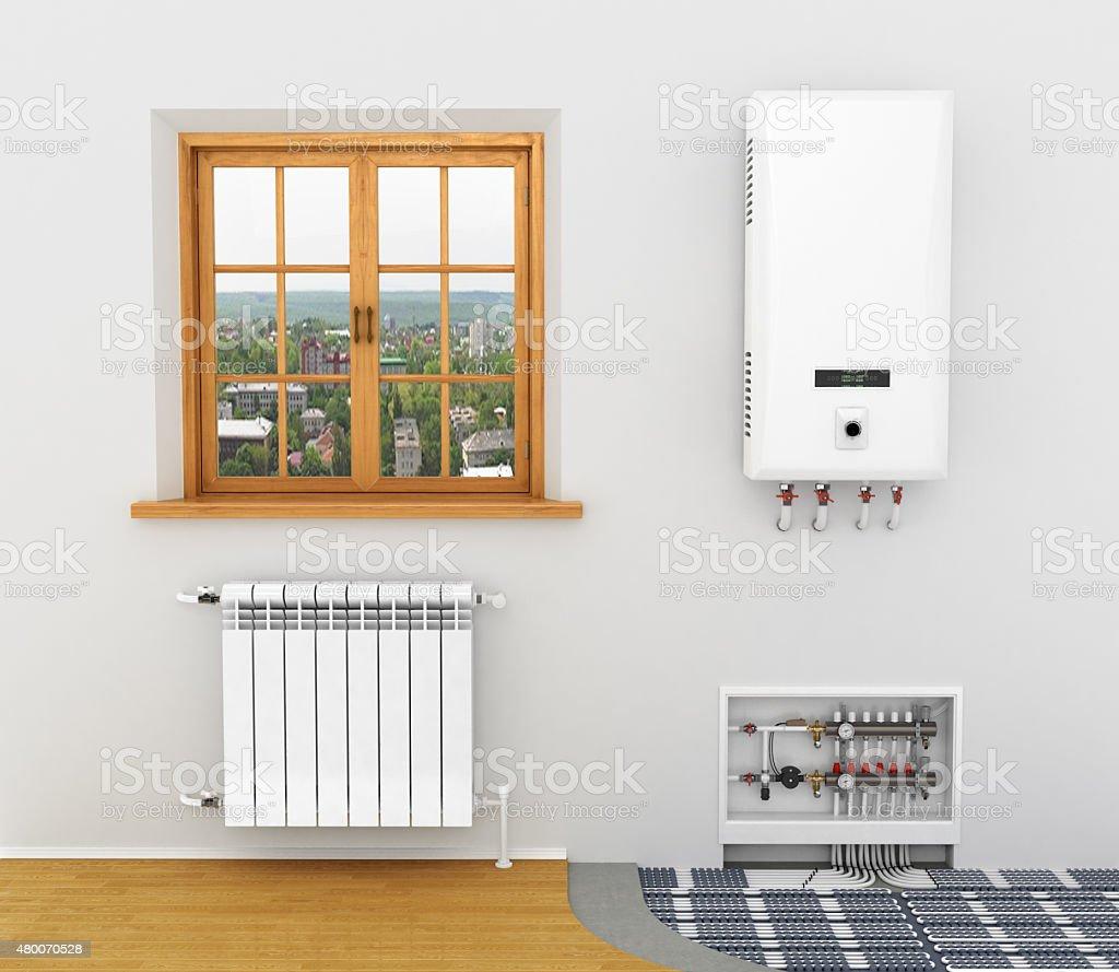 White radiator, stock photo