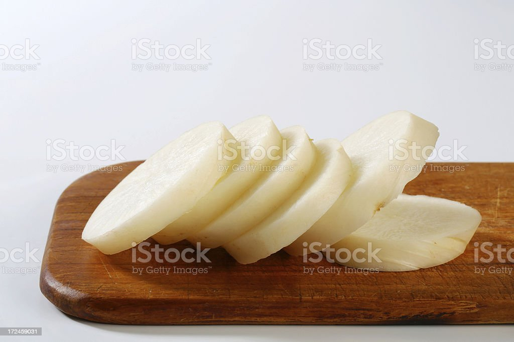 white radish slices royalty-free stock photo
