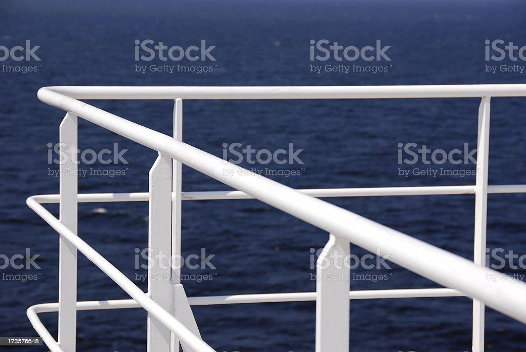 White Railing royalty-free stock photo