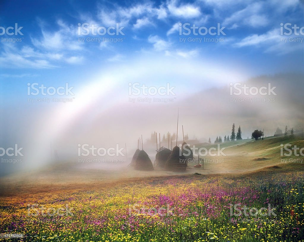 white rainbow royalty-free stock photo