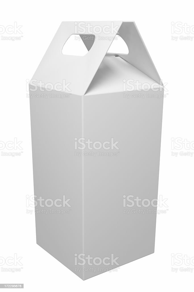 White rectangular box with handle royalty-free stock photo