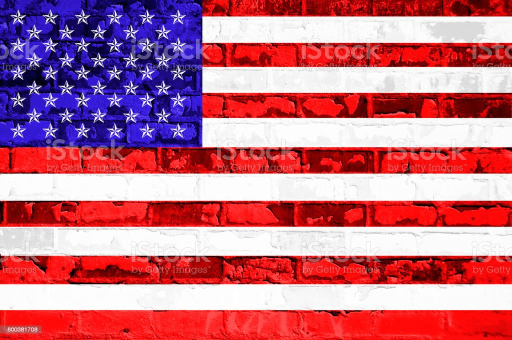 USA white, red, and blue stripes, or background, white stars, Labor day, independence day. stock photo