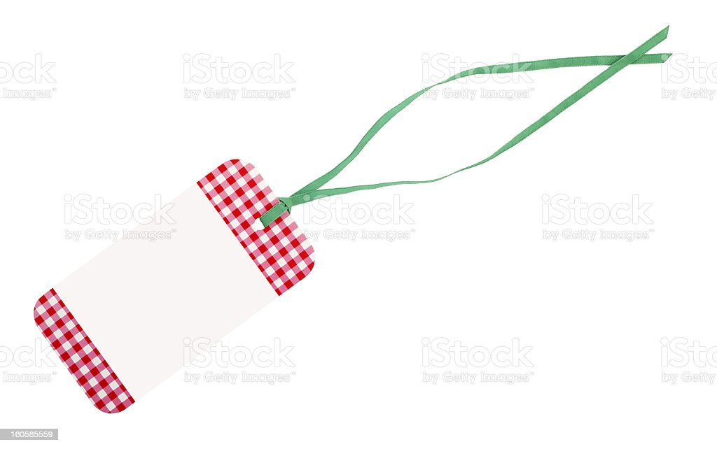 White red tag blank label royalty-free stock photo