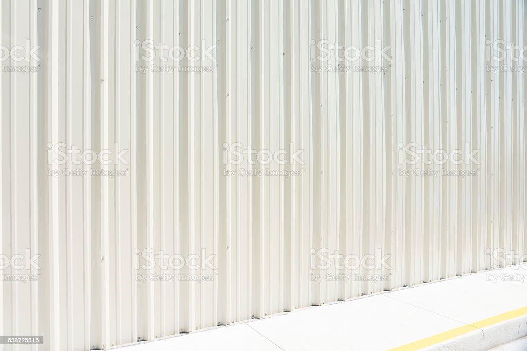 white ribbed aluminum metal stock photo