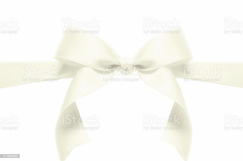 white ribbon stock photo