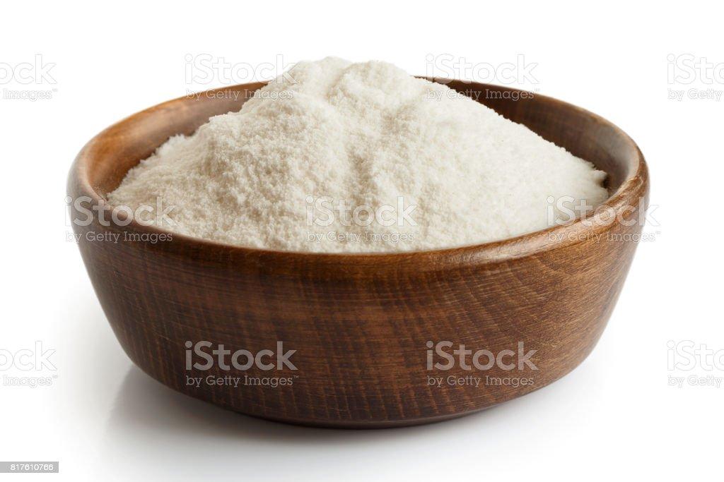 White rice flour stock photo