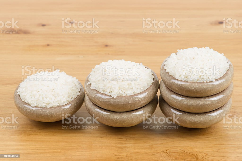 White rice in bowl royalty-free stock photo