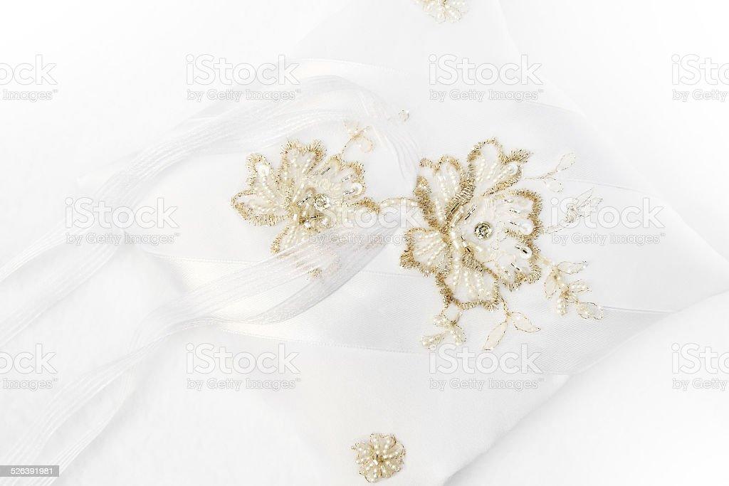 white ring pillow stock photo