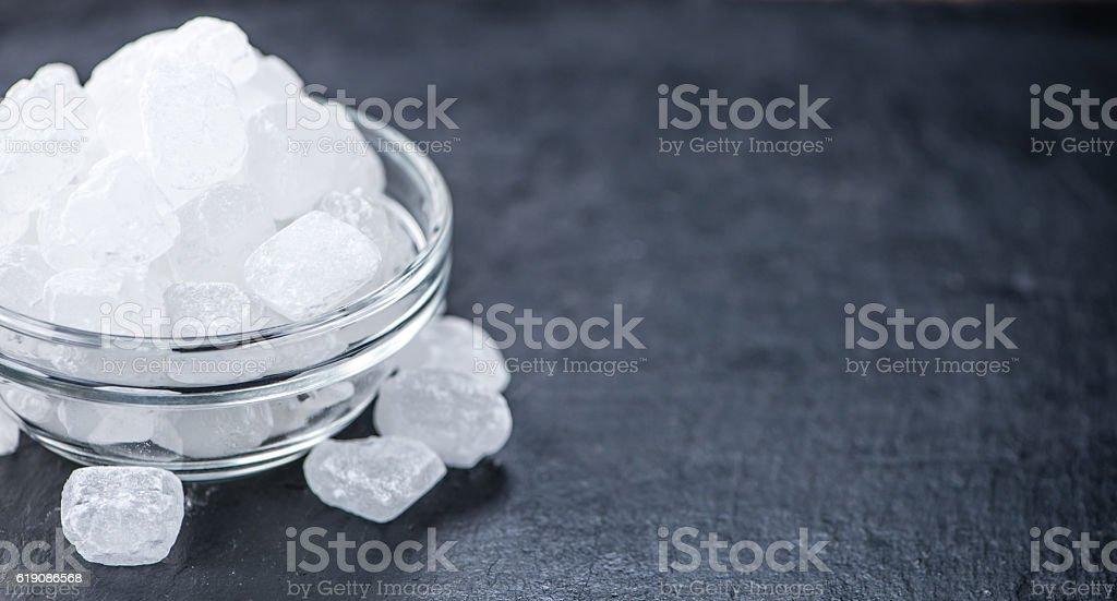 White Rock Candy on a slate slab stock photo