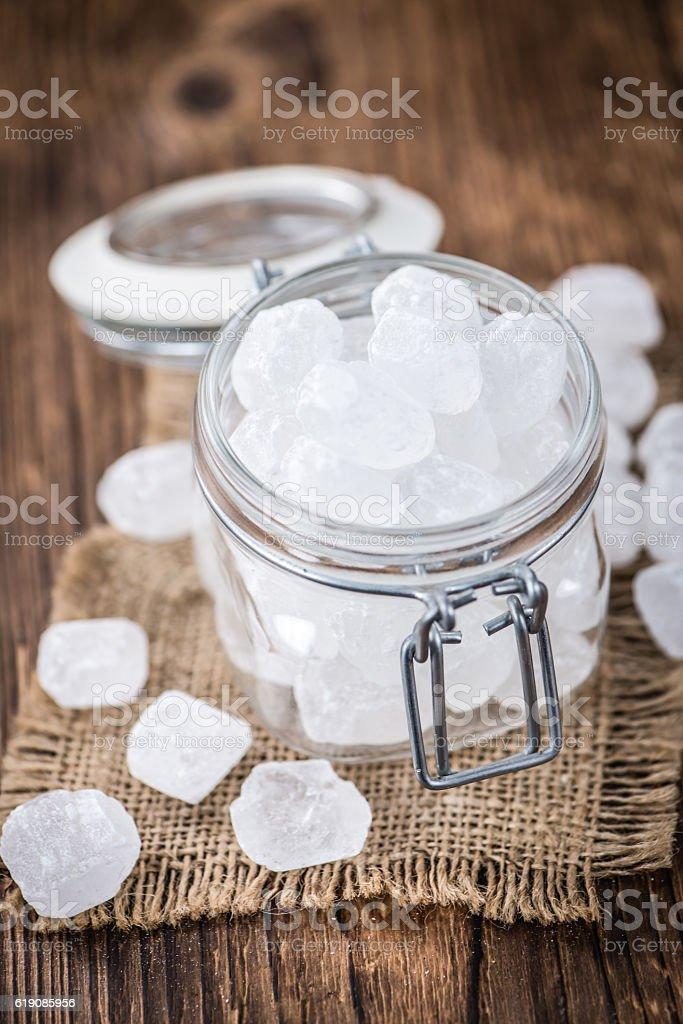 White Rock Candy (selective focus) stock photo