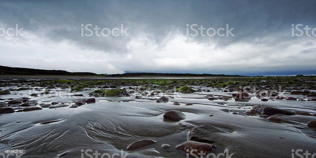 White Rocks Beach in Northern Ireland stock photo