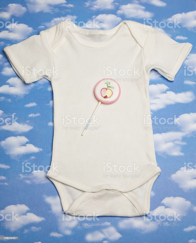 white rompers stock photo