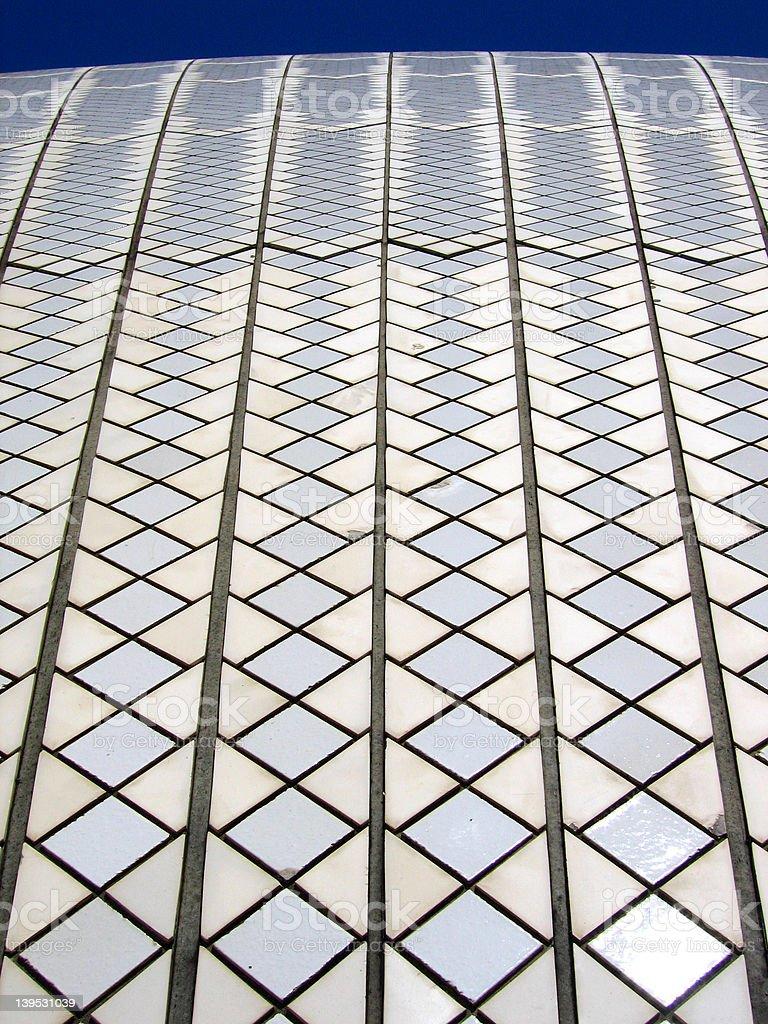 White Roof Tiles royalty-free stock photo