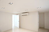 white room emply in Warm white LED light