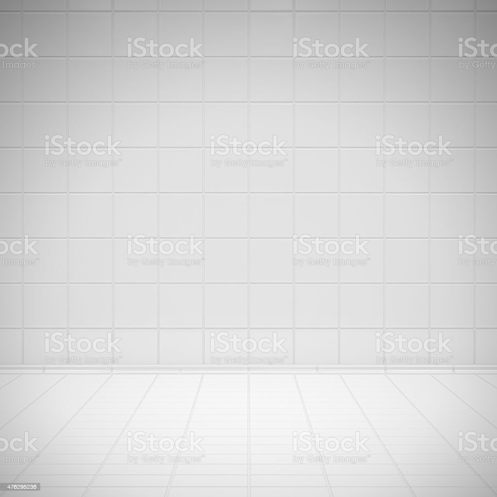 White room tiles stock photo