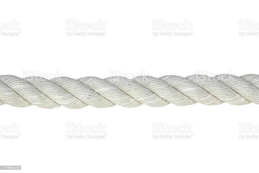 White rope royalty-free stock photo