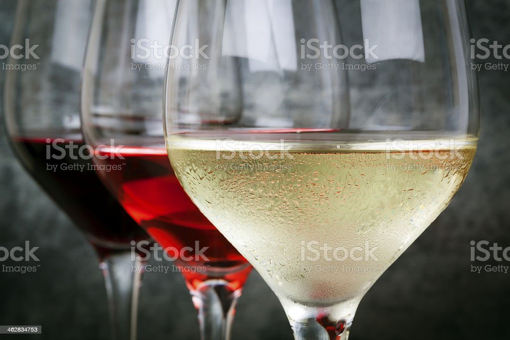 White Rose and Red Wine stock photo