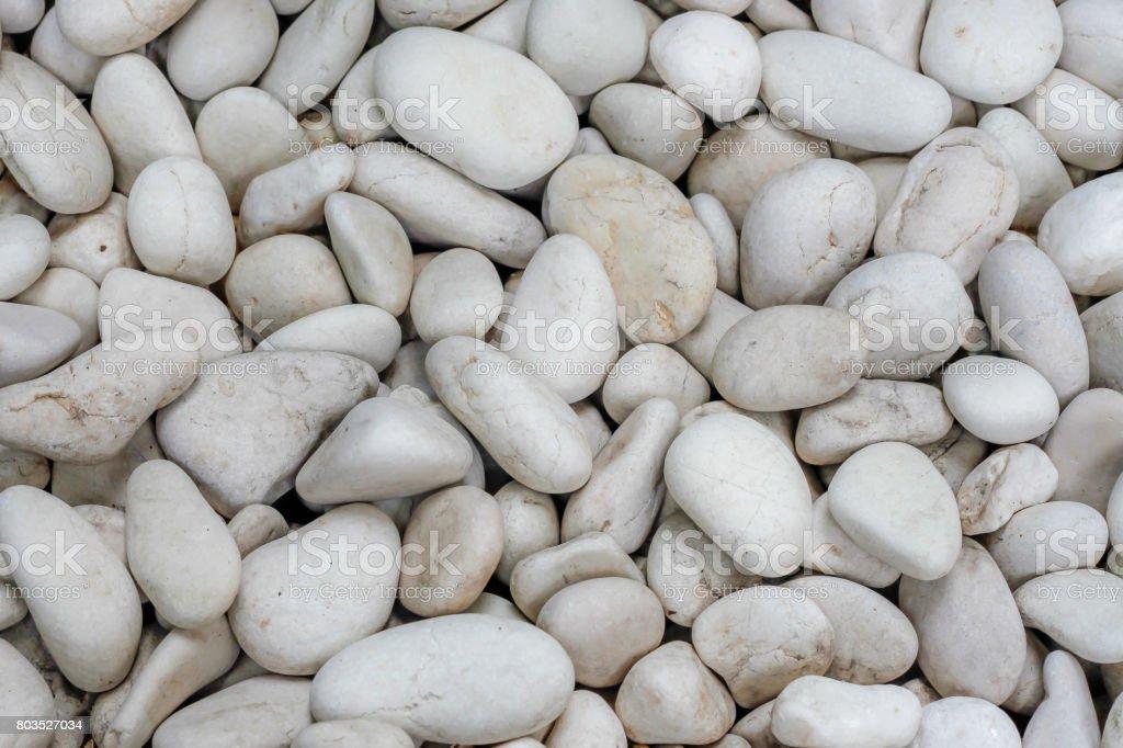 White Round River Stones stock photo