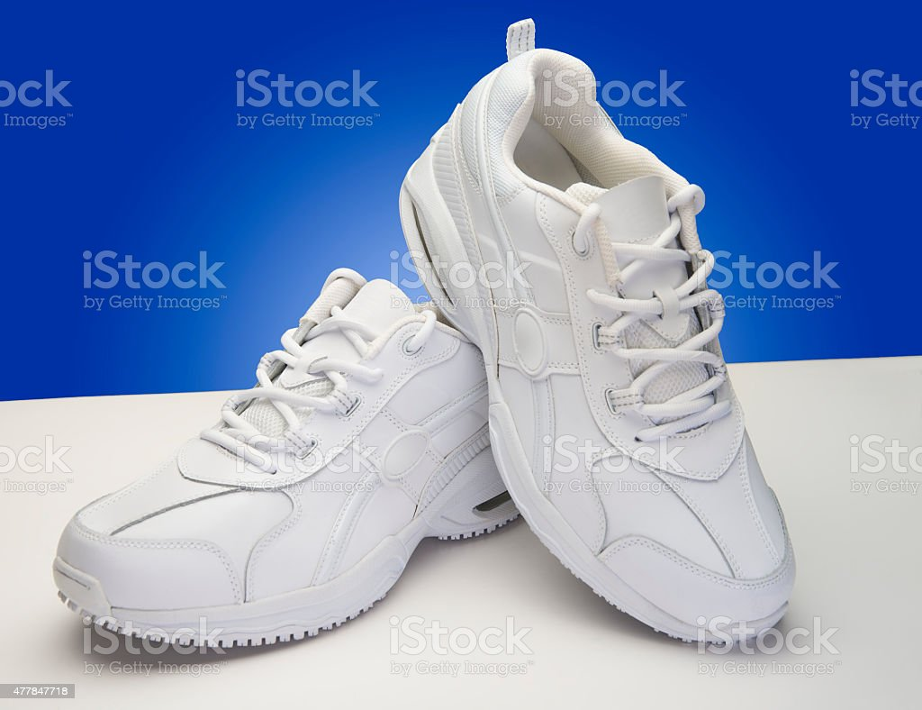 White Running Shoes stock photo