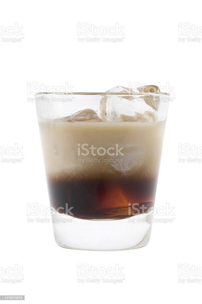 White Russian cocktail stock photo