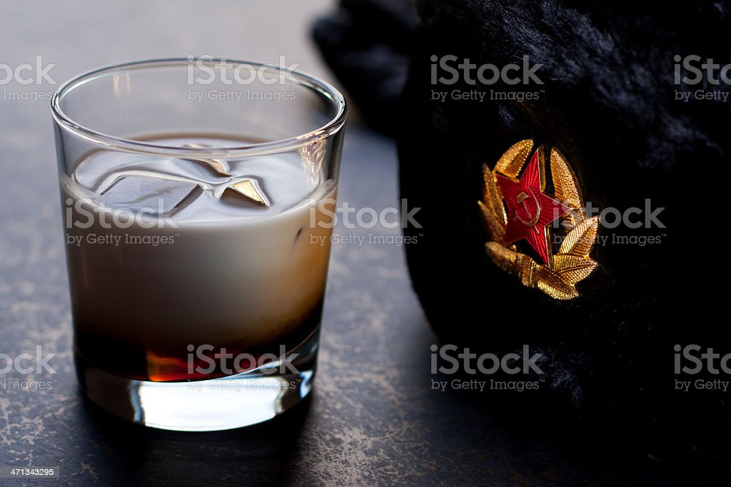 White Russian with Ushanka royalty-free stock photo