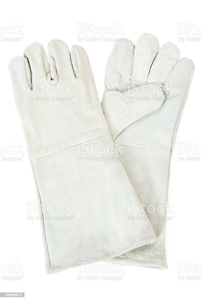 White Safety Gloves stock photo