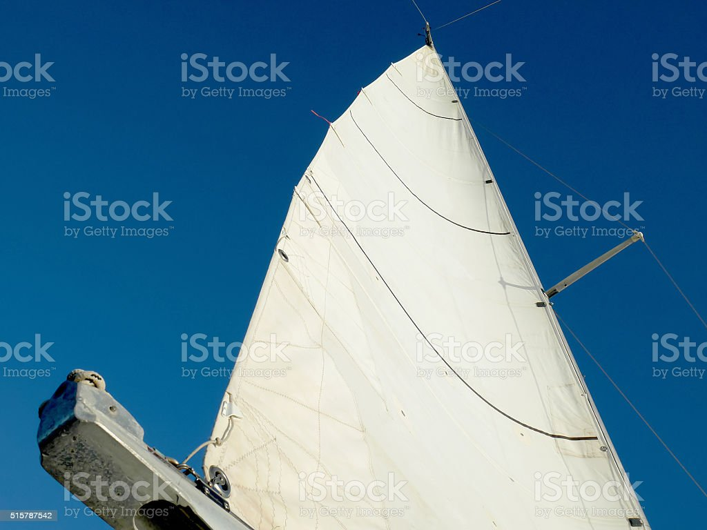White sail stock photo