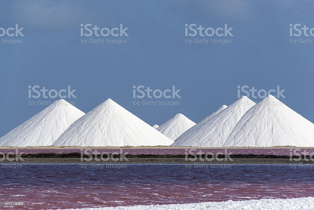 White Salt and Pink Water stock photo