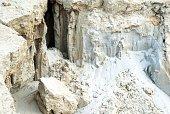 White sand at a forsaken quarry
