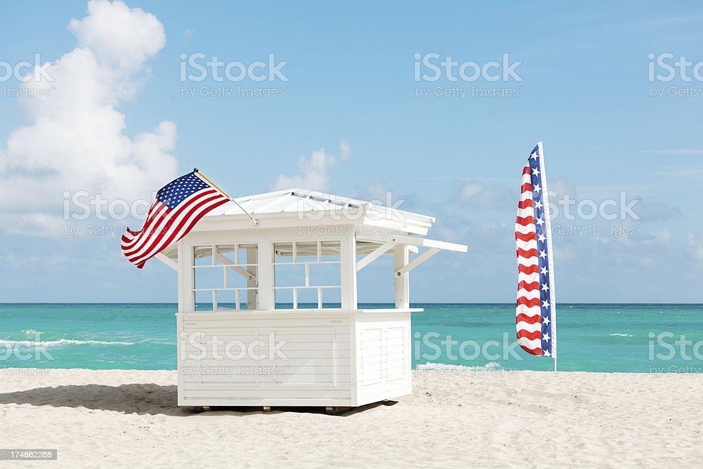 White Sand at South Beach, Miami Florida USA Horizontal-2 royalty-free stock photo