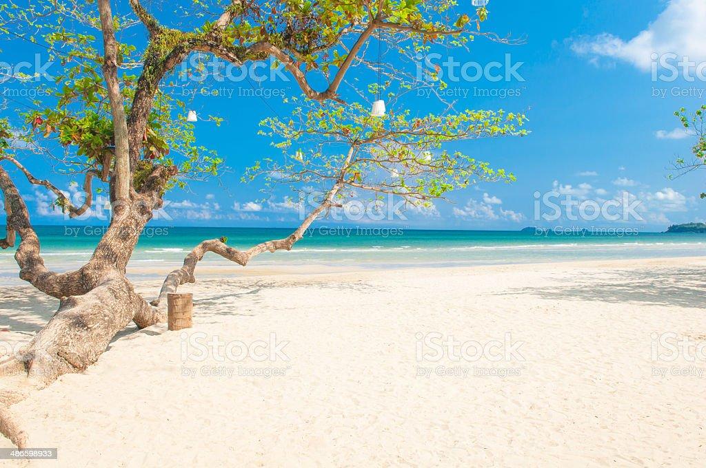 White sand beach at Koh Chang Island stock photo