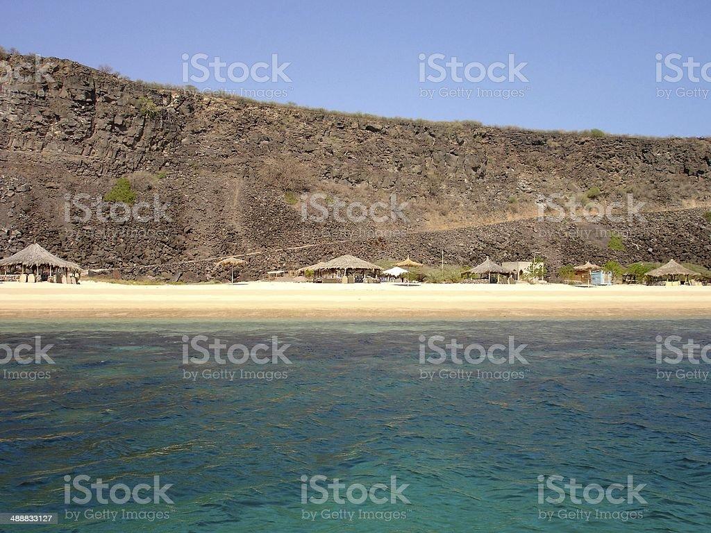 White Sand Beach Camp in Djibouti royalty-free stock photo