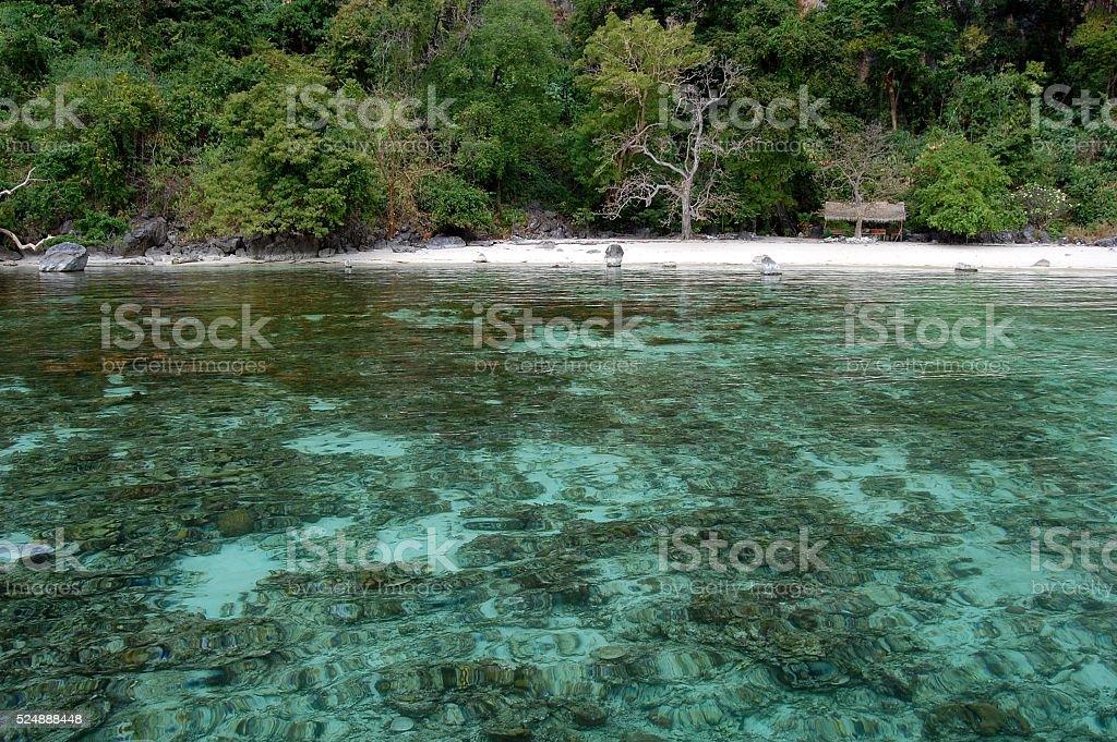 White sand beach in Coron island, Palawan, Philippines stock photo