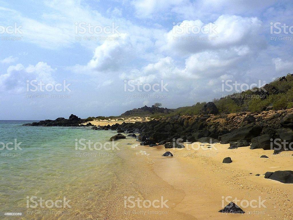 White Sand Beach in Djibouti royalty-free stock photo