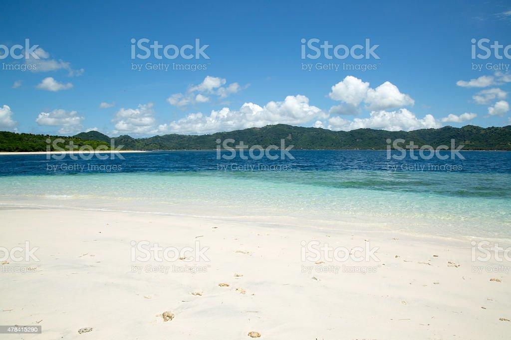 White sand beach in Indoneais island stock photo