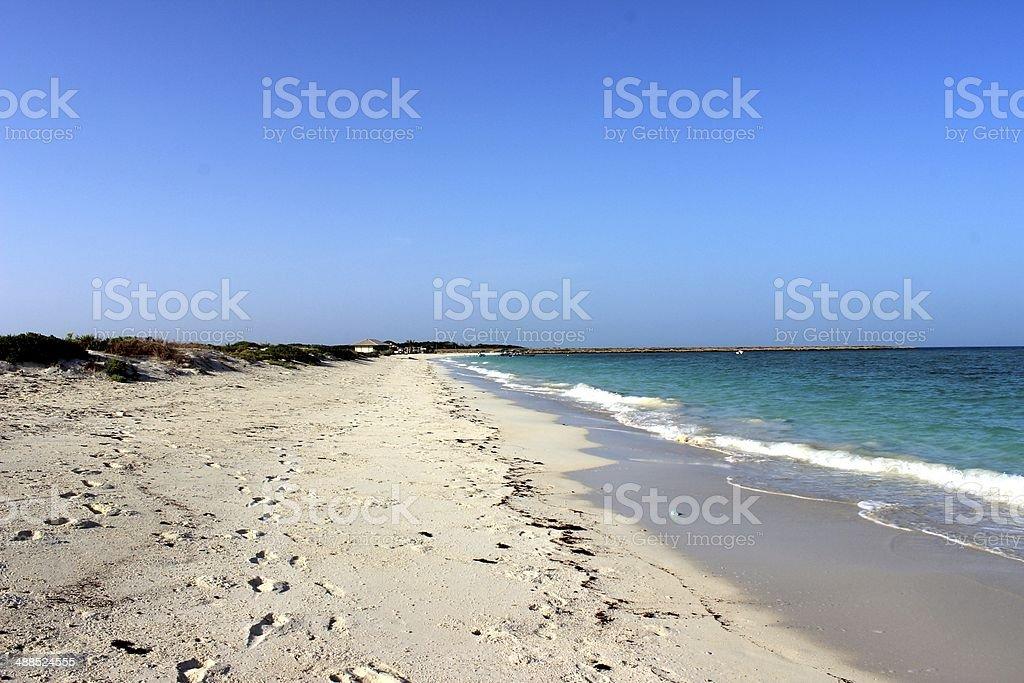 White sand Beach in Moucha Island royalty-free stock photo