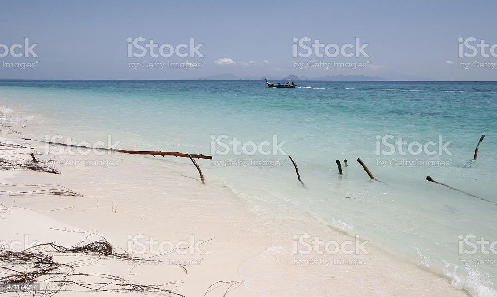 White sand beach - Krabi province, Thailand royalty-free stock photo