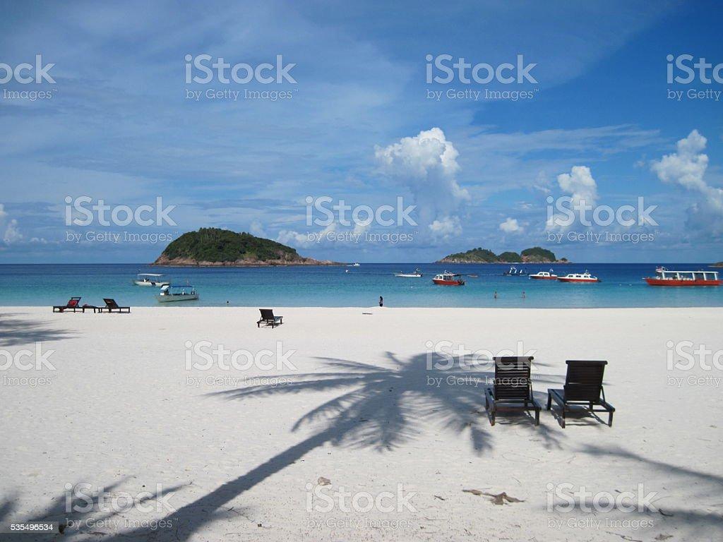 White sand beach Lizenzfreies stock-foto